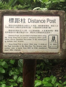 Distance post