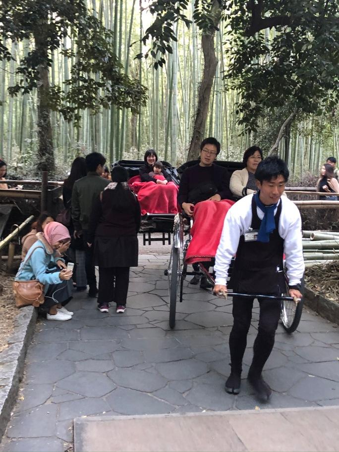 Arashiyama bamboo hand cart